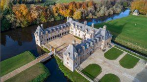 Vue aérienne du château du Rohcer Portail