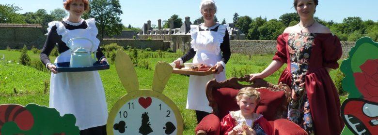 Thé et lapins au potager du Rocher Portail