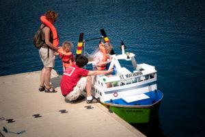Port miniature de Villecartier - Embarquement